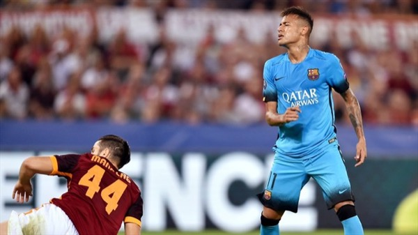 AS Roma tahan imbang Barcelona
