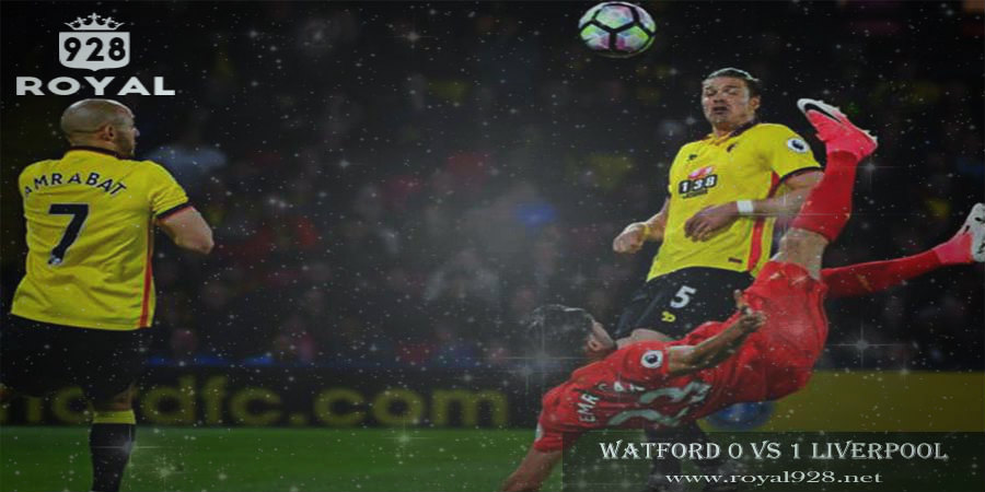 watford vs liverpool skor 0-1